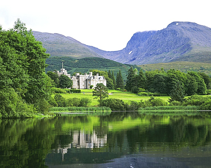 """Exclusive Use **Step into the picture-perfect world of Inverlochy Castle. A magnificent backdrop for your next event**  Inverlochy Castle is reflected in its own loch, and backed by Ben Nevis, Britain's highest mountain. You couldn't ask for a more breathtaking view.  The grandeur of this much-awarded historic hotel venue adds to the beauty of its dramatic landscape.   Queen Victoria, who used the Castle as an escape from running the British Empire, said she """"never saw a lovelier or romantic spot"""".   Today's Guests receive an equally royal welcome in the Great Hall, and spends their days walking, relaxing with a matchless selection of limited-release whiskies, or enjoying the fabulous cuisine. It is also the greatest of all bases from which to explore the Highlands.   If you're hosting a conference or company away day, you won't find a hotel venue more magical to inspire your team."""