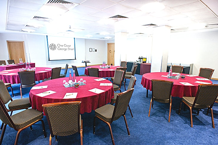 Rennie Room **For a stunning backdrop to accompany your next event,  the Rennie Room at One Great George Street boasts a beautiful option**  This Space is located on the lower ground floor of One Great George S