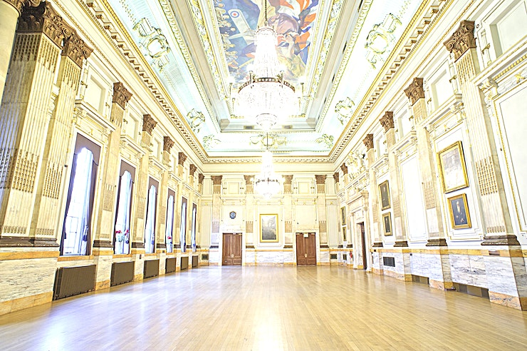 The Great Hall **On the first floor of this Westminster venue is the most impressive and largest function space within the building.**  At over 370 square meters and over 13 meters in height, this event Space is a