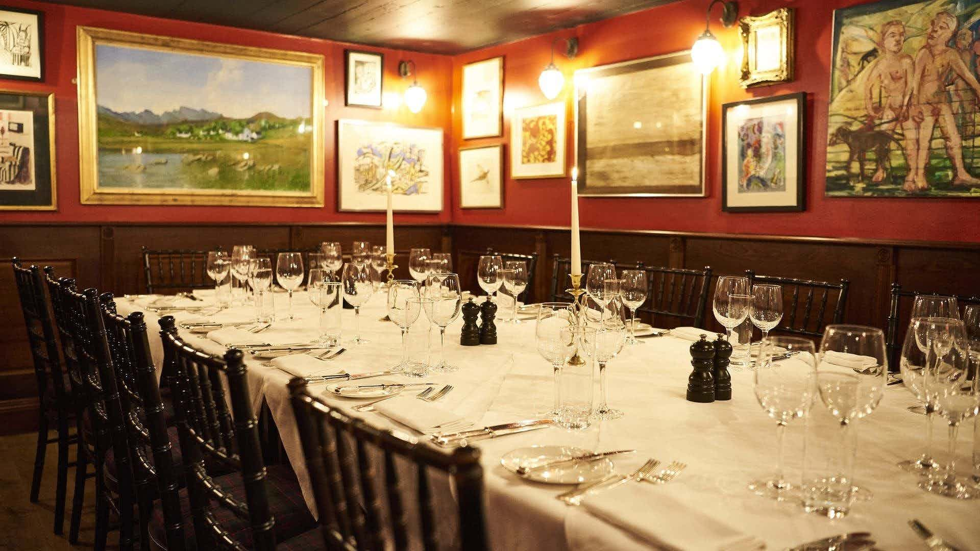 Private Dining Room, Boisdale of Mayfair