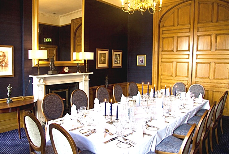 The Scott Room **Just a short distance from Waverley train station is the Edinburgh event Space you've been searching for**  With its historic past, this Georgian building is unmatched in grandeur. This iconic event Space provides the perfect setting for any occasion.   Whether it is for a small dinner party, business lunch or for a large celebratory occasion, the Club offers excellent surroundings in a superb location.  The Royal Scots Club has a history of holding high profile events and has been used for a variety of different events over the years. Whatever your event, this Edinburgh event Space can cater to the needs of the corporate client.   Having previously hosted product launches, conferences, team meetings and presentations. The Scott Room at The Royal Scots Club is well-equipped to make your event as extraordinary and effective as possible.   The Royal Scots Club has a dedicated event coordinator who will work with you to plan every detail of your event. Whether your event is an intimate company dinner or a board meeting, it is sure to be a success in this stunning event Space.