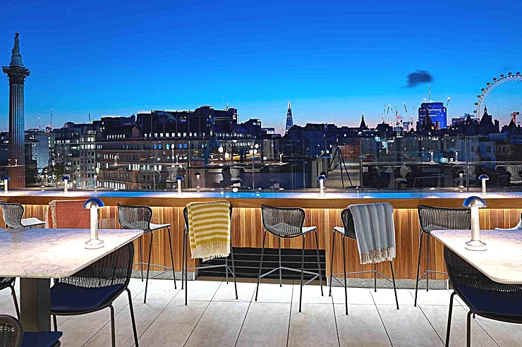 The Rooftop **For an exclusive hire that is sure to impress Guests and captivate clients, hire The Rooftop at Trafalgar St James**  For the most premier of occasions, opt for The Rooftop. With London's iconic s