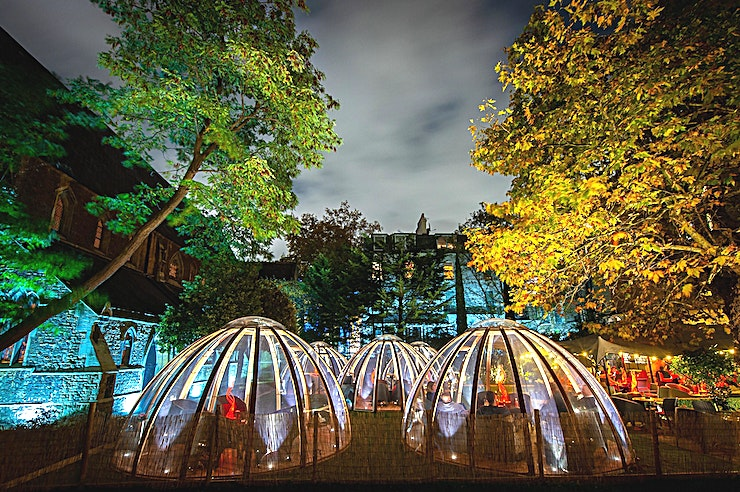 Private Dining Room **With the festive season fast approaching, choose a private dining room dedicated to the winter experience**  Get cosy in London's most secretive winter garden as you spend a few hours wining and d