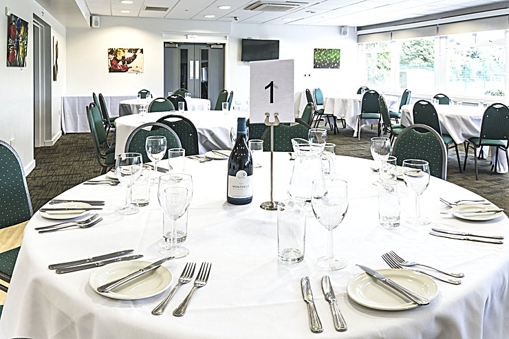 Windsor & Fetherston **Are you looking for the perfect Space to host your next event? Look no further than Silhillians Sports Club & Conference Centre**  This multifunctional and fully adaptable room can cater for any occasion. With a wealth of facilities available to ensure the success of your event, the Windsor & Fetherston room is an ideal option for corporate hire.  Boasting state of the art facilities, plenty of free parking and free high-speed wi-fi, this Solihull venue offers the perfect location for your company occasions.  Host a private party, conference or seminar in this Space and be amazed by the modern furnishings and facilities at Silhillians Sports Club & Conference Centre.