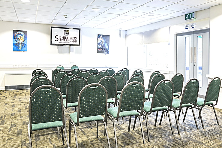 Shenstone **The Shenstone room at Silhillians Sports Club & Conference Centre is the ideal Space for hire in Knowle**  This Solihull Space is a superb option for conferences and other corporate occasions.  The Conference Centre at Silhillians has an abundance of facilities available to ensure the success of your event including 3 fully adaptable and multifunctional event rooms, including the Shenstone room, offering the perfect environment for an efficient and productive meeting.  This Space is filled with plenty of natural light, enhancing the contemporary furnishings and modern decor.  With state of the art facilities, plenty of free parking and free high-speed wi-fi, we offer the perfect location for your conferences and seminars, meetings, training and team-building days.