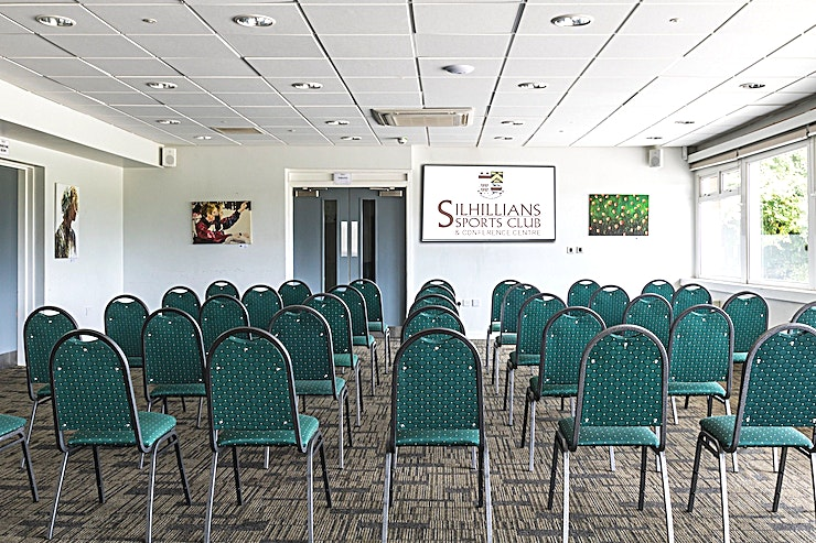 Fetherston **The Fetherston room at Silhillians Sports Club & Conference Centre is the perfect spot for your next conference**  This Space can be hired in conjunction with the Windsor room to create a large event Space ideal for corporate hire.  The Conference Centre has a wealth of facilities available to ensure the success of your event including 3 fully adaptable and multifunctional event rooms offering the perfect environment for a successful and effective meeting.   This Space is capable of accommodating up to 50 Guests and also has the capability to expand in a marquee area.  With state of the art facilities, plenty of free parking and free high-speed wi-fi, we offer the perfect location for your conferences and seminars, meetings, training and team-building days.