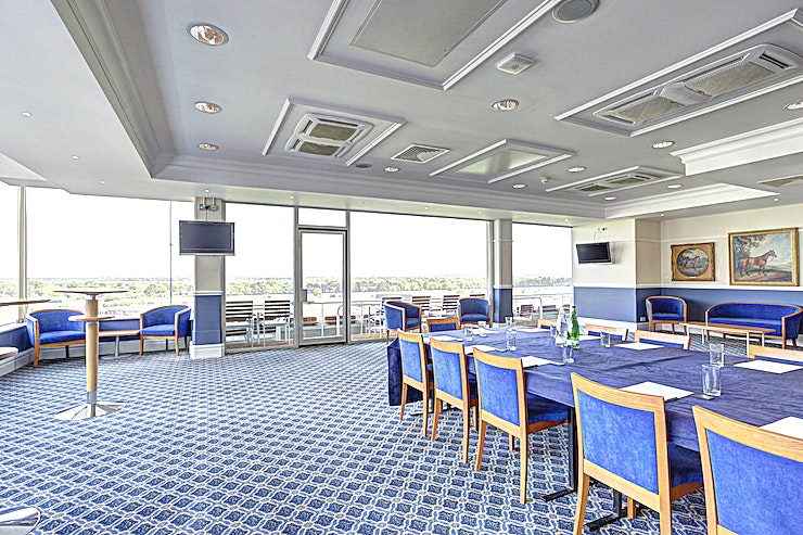 Royal Box **More intimate meetings, dinners and get-togethers can also be hosted in Sandown Park's Royal Box**