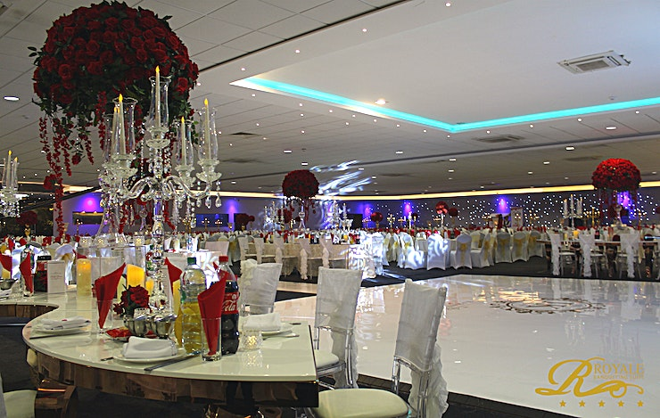 Christmas and New Years at Royale Banqueting Suite **For a lavish venue for your next corporate event, the Regal Executive at The Royale Banqueting Suite will be sure to impress**  The Royale Banqueting Suite provides a great Space for your Christmas Party.   With Christmas 2018 around the corner, this Space is ideal for your company event. Supplying Guests with comfortable surroundings in a beautiful venue. The Royale Banqueting Suite is an unmatched Christmas venue hire.  The banqueting suites offer a luxurious ambience in rich settings. You and your Guests will be guaranteed to celebrate in a complete stress free experience.   The Royale services are provided at three other Regal Venues, including the Regal Executive. For a Space with a capacity ranging from 550-650 Guests with complete separate facilities and entrances, the Regal Executive is ideal for large-scale events.   The venue hire comes fully equipped with free large car parking facilities available for all events.   You and your Guests will be sure to be spoiled in this extravagant Space.