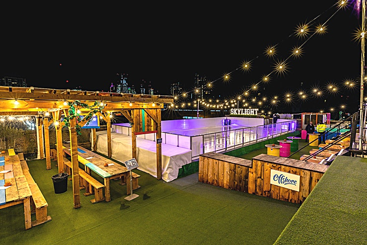 Skylight Winter **Hire Skylight at Tobacco Dock for a stunning corporate event destination**