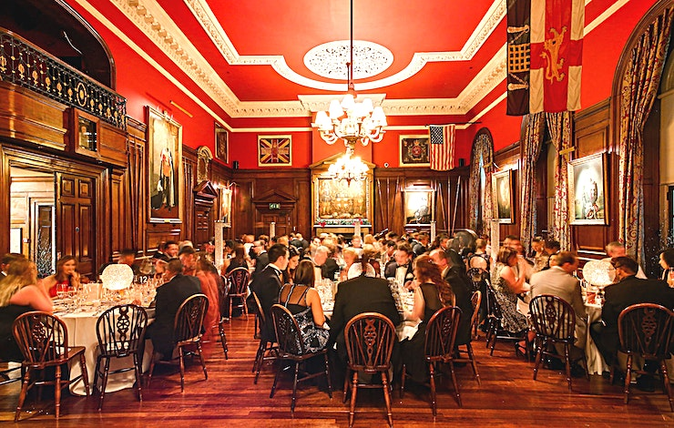 The Long Room **The Long Room at the historic HAC in London is the perfect venue hire for conferencing, office parties or wedding receptions.**  The HAC is a unique, historic London venue offering a variety of event spaces for conferences, meetings, awards dinners, summer and christmas parties, fun days and wedding receptions.  Located just a stone's throw from Moorgate and hidden away in a quiet location unseen from City Road, the HAC, with its five acre garden, is an oasis of green in a City of glass and steel.