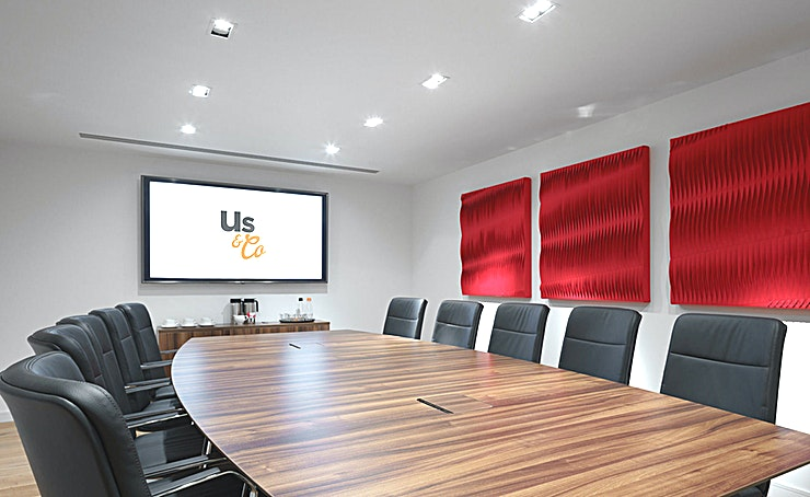 Boardroom 1 **Boardroom 1 at Us & Co Dublin is a state-of-the-art meeting room to hire in Dublin.**