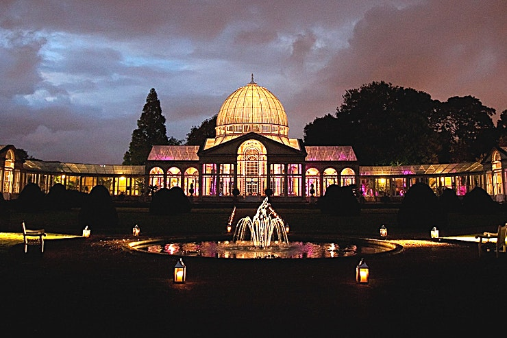 Syon house and the Great Conservatory  Syon Park is one of the most remarkable country estates in the country and the last privately owned one in London. The beautiful venue just out central London in Brentford is ideally located for corporate and private events, as well as weddings and civil ceremonies.  If you are looking a stunning location for an event or celebration, then look no further than this calm and romantic setting. There is a sense of anticipation and drama as guests enter the gates – the rich history of the Estate is almost palpable.  Few venues offer such a magical yet friendly setting to impress and welcome your guests.