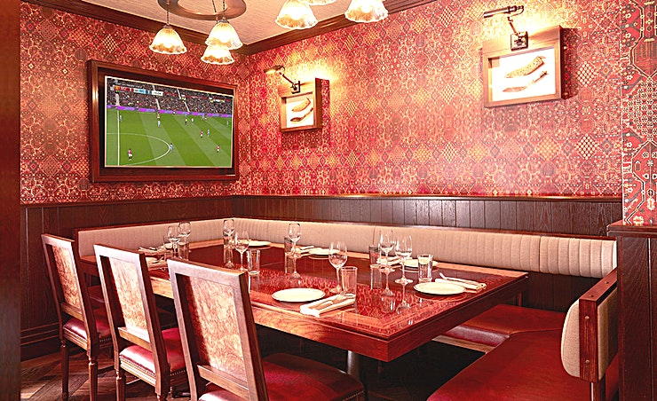 The Kukri Room **The Kukri Room at Brigardiers is a prime location for private dinners in Central London.**  Named after the favoured knife used by the Gurkha regiments, the Kukri Room is carefully curated with Gurkha memorabilia and seats up to 10 Guests.   At the centre of the room is a bespoke table that transforms into a red felt card games table, creating the ultimate after-dinner games room.
