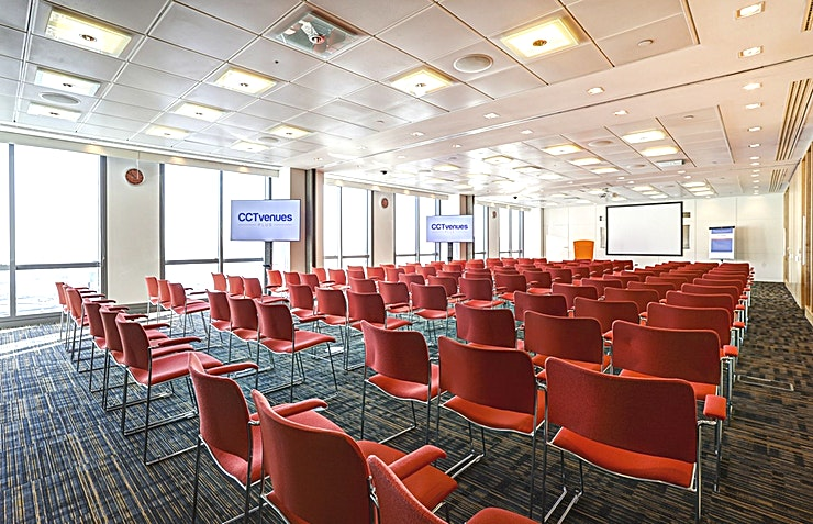 Room 6, 7 & 8 **Room 6, 7 and 8 at CCT Venues Plus-Bank Street can be combined to form a flexible events venue available to hire in Canary Wharf.**  Just a minute's walk from Canary Wharf tube station, this stunning venue at 40 Bank Street offers events space that makes an impact for all the right reasons.   On the upper floors of this pristine 32-storey office complex, we have 26 flexible meeting rooms with floor-to-ceiling windows that boast breath-taking views across London.