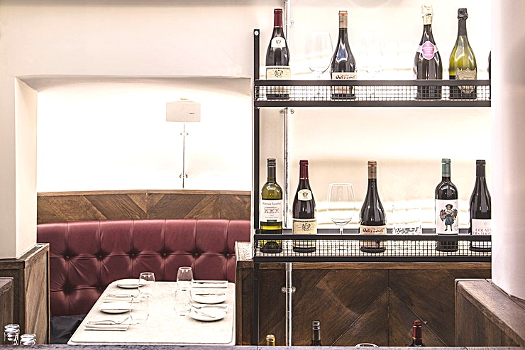 Vaults **Nestled in the arches downstairs at maze Grill Royal Hospital Road, 'The Vaults' offers an intimate dining experience for smaller groups.**  Sink into luxurious leather banquettes, and enjoy the c