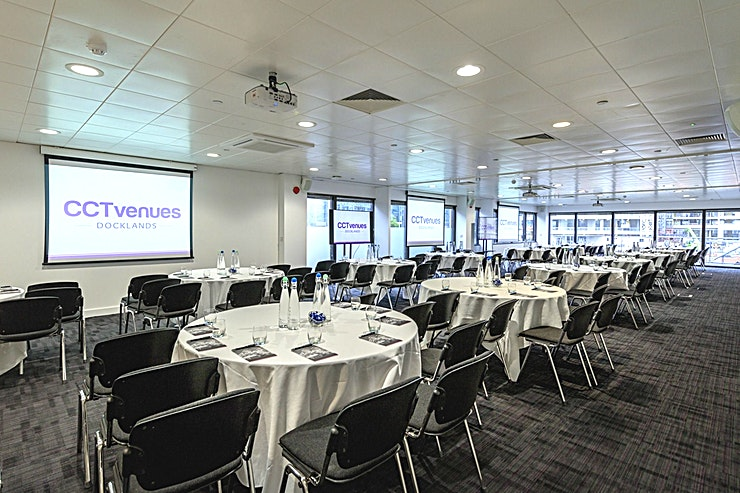 Sugar Suite **The Sugar Suite is a flexible Space that can accommodate up to 250 Guests.**  The Space is designed to ensure that any business event's requirements are met.   The Sugar Suite comprises of three rooms, each offering natural daylight and high-quality technology, that open up as one large space.   It also comes with the benefit of having its own private Lounge, ideal for exhibitions, catering or networking.