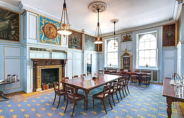 The Court Room **The Court Room at the historic HAC in London is the perfect venue hire for conferencing, office parties or wedding receptions.**  The HAC is a unique, historic London venue offering a variety of event spaces for conferences, meetings, awards dinners, summer and christmas parties, fun days and wedding receptions.  Located just a stone's throw from Moorgate and hidden away in a quiet location unseen from City Road, the HAC, with its five acre garden, is an oasis of green in a City of glass and steel.