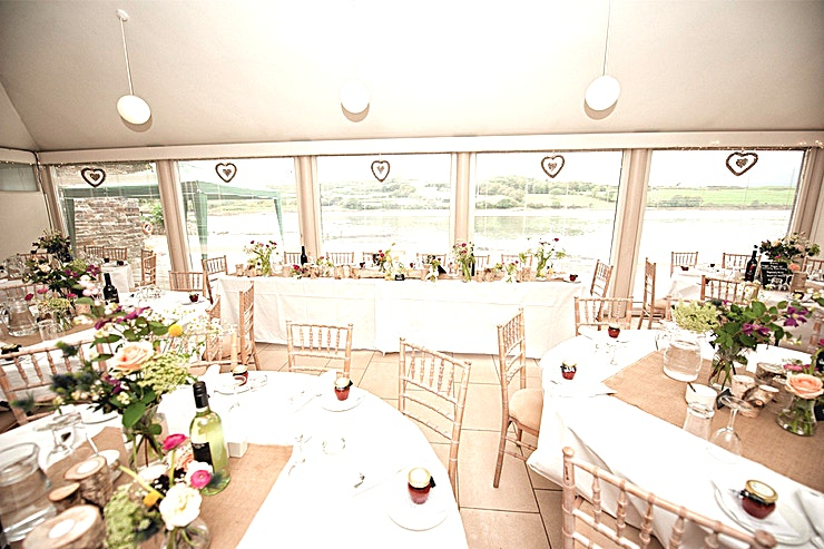 The Boat House **The Boat House at Inish Beg Estate is a stunning event venue to hire in Dublin.**   The Boat House is a perfect location for an indoor wedding ceremony for up to 130 Guests (April - October) or for intimate wedding receptions of 50 or less.  The Space can also be used for corporate events including team away days, meetings and brainstorms.