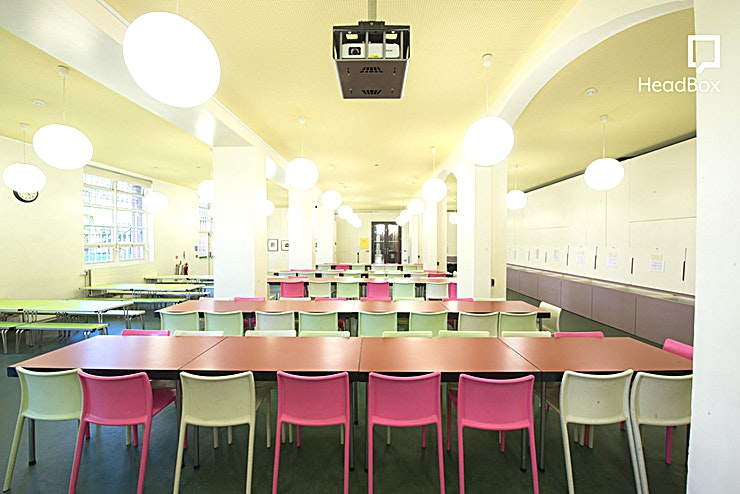 The Summerly Room **Hire The Summerly Room at V&A Museum of Childhood, a suitable space for larger events near Bethnal Green.**  The Summerly Room is a large multipurpose space which can seat up to 150 people / 50 boardroom style. The room contains a fixed ceiling projector with pull down screen and a computer with a CD and DVD drive. All the furniture is moveable, so the room can be set up to suit individual requirements.  The Summerly Room is a versatile space for large events with simplistic and bold colours decorating the room. This makes for the perfect venue to hire in Bethnal Green and is will surely impress guests regardless of the event.  This room is suitable for training, large meetings, desk workspace, photoshoots and more.  Please note these rooms are generally only available for hire after 14.30 during term time.  - THIS IS A DRY HIRE -