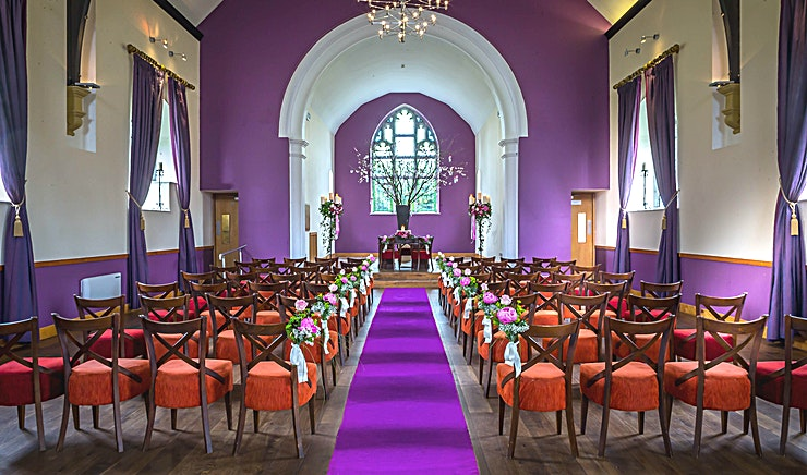 Canis Major Chapel **Canis Chapel Major at CLayton Hotel Sligo is a unique event venue available to hire in Sligo.**  Canis Major is a chapel that sits on the grounds of the hotel while being away from the conference centre this building dating from the 19th century has 12 foot high lead framed windows, original wood beams and original stained glass altar can accommodate up to 220 delegates in a theatre set up or 120 in banquet style.  At Clayton Hotel Sligo, choose from any of the six meeting rooms, accommodating 2 to 600 delegates, all of which are situated in the purpose-built conference centre.   Their meeting rooms are adaptable to provide flexible solutions to your specific needs, offering every size space you need – from a simple business meeting to a uniquely stylish dinner dance and conference in Sligo.  Whatever your requirements Clayton Hotel Sligo has conference and meeting facilities, suitable for any group size. Within easy access for bus and rail services, Clayton Hotel Sligo is a premier conference venue in the North West.   Perfectly complimented by dedicated event coordinators on hand to help design and arrange bespoke functions.  When looking for a meeting room in the North West look no further than Clayton Hotel Sligo for exceptional facilities, service and value.