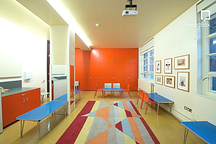 Evening Hire, Hickory Room **The Hickory Room at V&A Museum of Childhood, a great Space for your next workshop hire in London.**  The Hickory Room can seat 40 people theatre style / 20 boardroom style, and are equipped with a