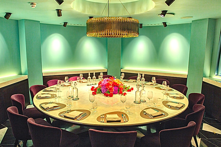 Lower Ground Round **The Lower Ground Round is a stylish private dining room to hire in Mayfair.**