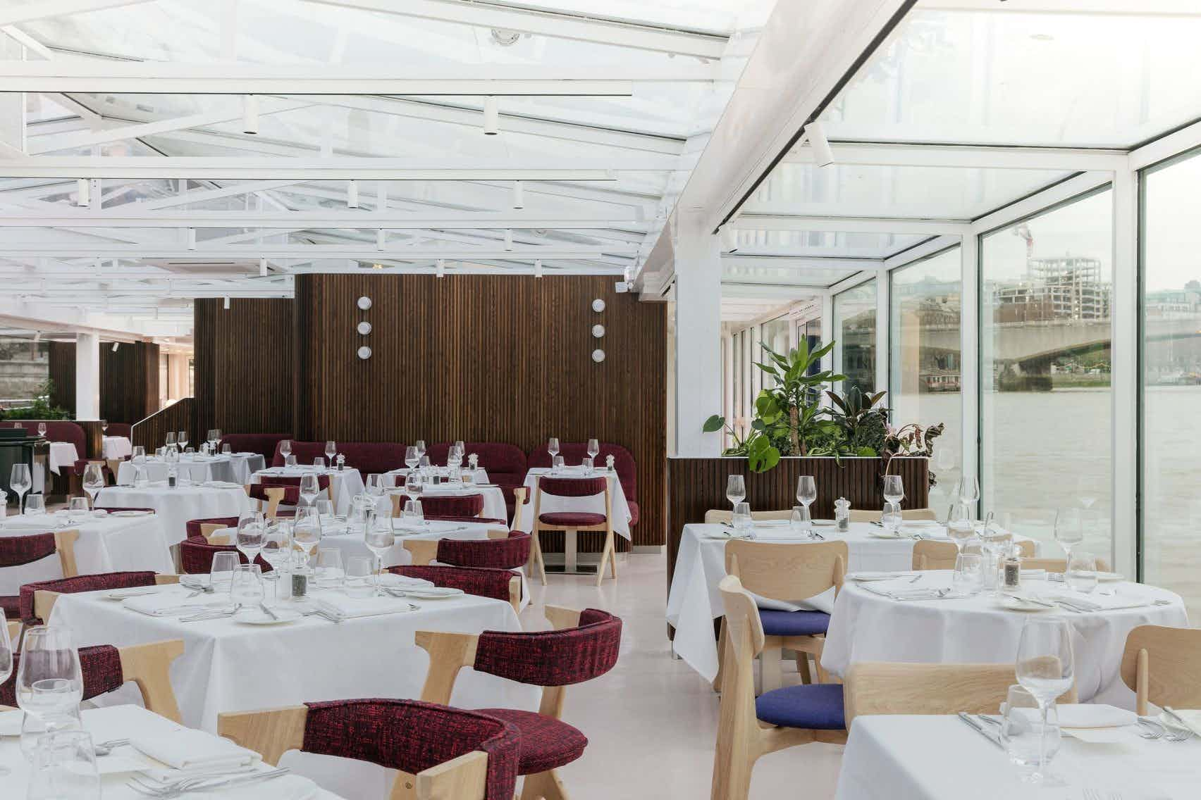 Glass Room | Lunch Sailing, Bateaux London
