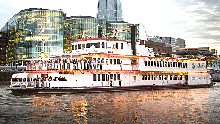Whole Venue **A warm welcome aboard the replica paddle steamer, Dixie Queen, a unique boat to hire in London.**