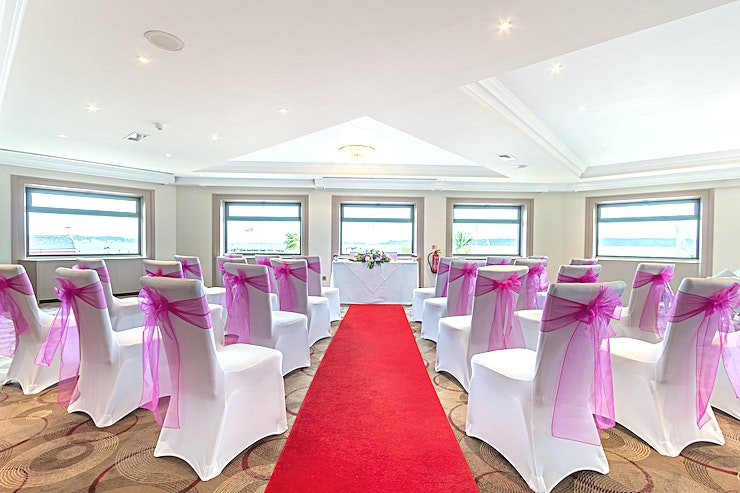 Harbour View Restaurant **The Harbour View Restaurant at Thistle Poole is an ideal events Space to hire.**  Large panoramic windows give this room lots of natural light and stunning sea views.   It's a charming and relax