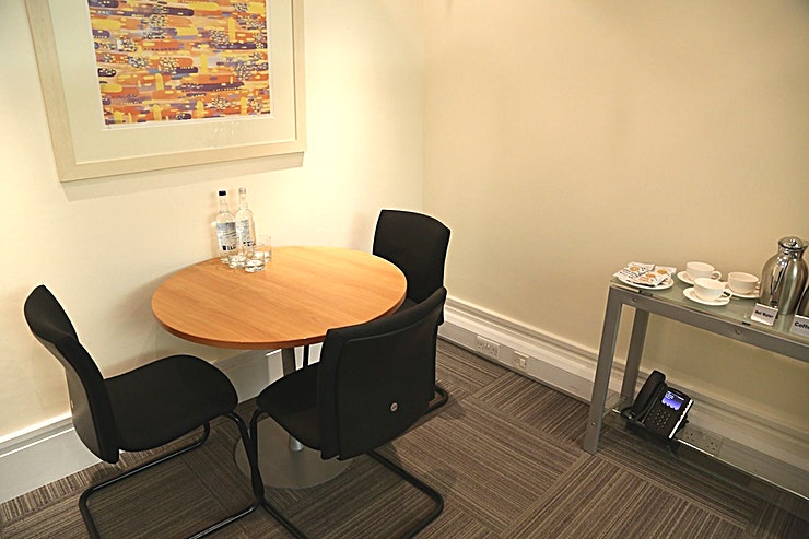 Meeting Room 2 **Meeting Room 2 at 15 Old Bailey is a stylish, state-of-the-art City of London meeting room for hire.**  15 Old Bailey is a charming building and superb London meeting room venue. St Paul's Cathedral is close by, as are shops, restaurants and excellent transport links.  Arranged across six floors, accommodation is spacious, with high-quality furnishings and plenty of natural daylight. 15 Old Bailey offers a choice of four meeting rooms that can be reserved from as little as half an hour.  15 Old Bailey is an excellent location on the edge of the City, a short walk from Paternoster Square. City Thameslink rail, St Paul's, Blackfriars and Farringdon underground stations are all a short distance away.