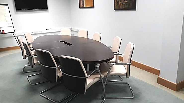 Castle Suite **The Castle Suite at Regus Limerick Castleroy is a flexible meeting room to hire in Limerick for corporate events.**  Get away from the distractions of the city. With everything you need on-site. Limerick Castletroy business centre is on the Castletroy Commercial Campus.  A location that's popular with companies in sectors from law to professional services and one that's easily accessed by road or regular bus services.  But while it's a place that's focused on business, it caters to every need. Call into the on-site coffee shop to refuel your thinking. Hold an informal lunch meeting in the restaurant. All with instant motorway connections for links to Dublin and twenty minutes from the airport