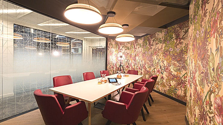 Boardroom **Hire the Boardroom at Carter Lane in St Paul's for your next team meeting, away day or presentation.**  This Space is a bright, modern room which is fully equipped with state-of-the-art technology and always smells fantastic.