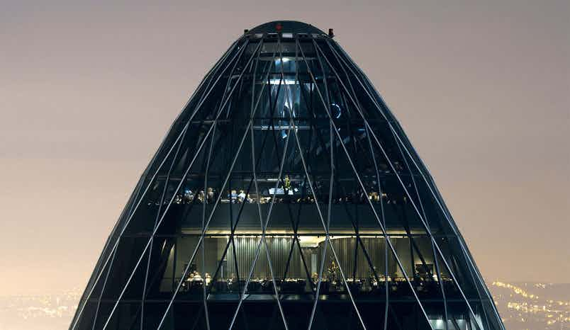 Exclusive Hire of Level 38, Searcys at the Gherkin