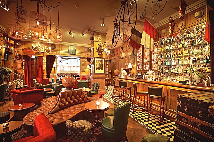 Whole Venue **Mr Fogg's Residence is a unique party venue, available for private hire in Mayfair.**  The eccentric British adventurer, Phileas J. Fogg, Esq., welcomes you to his London-based residence.   With