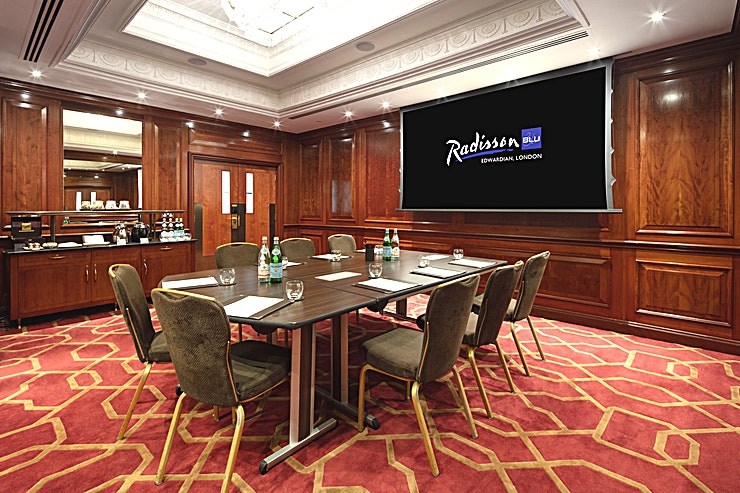 Private Room 34 **Looking for an intimate meeting Space in a prime location? The Radisson Blu Edwardian Heathrow has the Space for you**   Private Room 34 can host a stylish boardroom for up to 15 delegates. Creating an ideal Space for a multitude of events.  Whether you require the Space for a small presentation, team meeting or presentation. Private Room 34 can cater to all of the requests of the corporate client.  For international Guests, this Space could not be more ideally located. With Heathrow Airport just a stone's throw away, Private Room 34 makes for the perfect place for companies to convene.   All wrapped up in a lavish hotel venue.