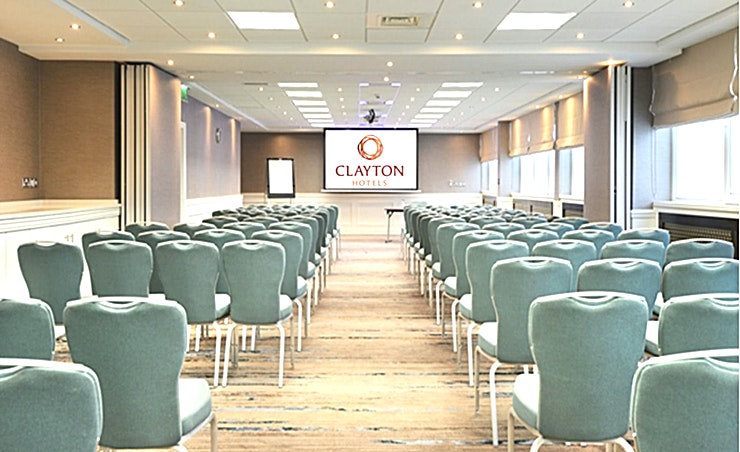 Meeting Room 7 **Meeting Room 7 at Clayton Hotel Burlington Road is a versatile meeting room for hire in Dublin.**  Meeting Room 7 can accommodate 30 Guests theatre style or board room meetings of 16 delegates. Our extensive banqueting facilities mean we're ideally placed to cater for events of any size, from intimate events to gala balls.  The Hotel also has 19 dedicated meeting rooms all with natural daylight, which can accommodate up to 100 delegates and are ideal syndicate meeting rooms for events in our Fitzwilliam Hall.  A comfortable lobby area is also available - the ideal Space for event breaks or meeting and greeting colleagues. Take advantage of a wealth of contemporary business facilities in Clayton Hotel Burlington Road, including in-built A/V technology and complimentary WiFi.  A dedicated Business Centre Manager will be on call for any last minute requests and to ensure your event is a success.  Located 30 minutes from Dublin International Airport and a 15-minute walk from St Stephen's Green, our iconic Conference & Event Hotel caters for up to 1200 delegates with 20 supporting meeting rooms and 502 Guest bedrooms. For your convenience, car parking spaces are provided at the hotel (subject to availability).