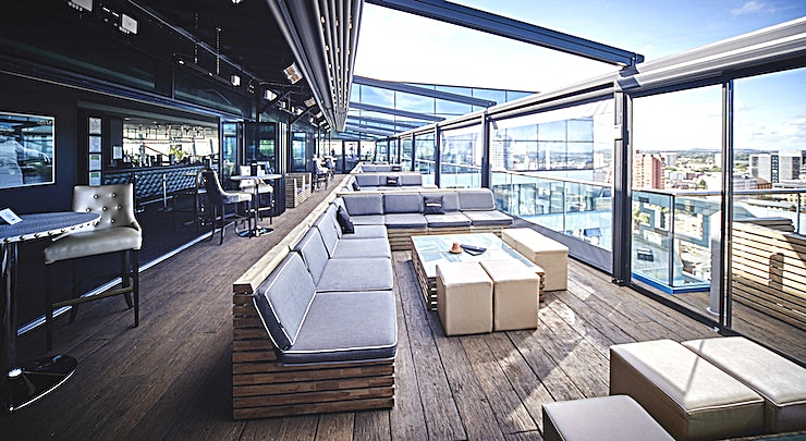 The Terrace **The Terrace at Marco Pierre White at The Cube is a luxury dining room for hire in Birmingham.**  Possibly the most defining characteristic of the restaurant is the newly-refurbished terrace, the perfect spot for a soaring party!   Playing to the Instagram-famous sunsets across the cityscape, the terrace boasts a retractable roof for the crisp summer evenings, and a full heated shelter ensuring the weather cannot take away from the experience.