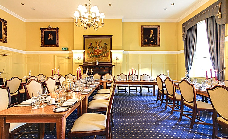 Queen's Room **Queen's Room at the historic HAC in London is the perfect venue hire for conferencing, office parties or wedding receptions.**  The HAC is a unique, historic London venue offering a variety of event spaces for conferences, meetings, awards dinners, summer and christmas parties, fun days and wedding receptions.  Located just a stone's throw from Moorgate and hidden away in a quiet location unseen from City Road, the HAC, with its five acre garden, is an oasis of green in a City of glass and steel.