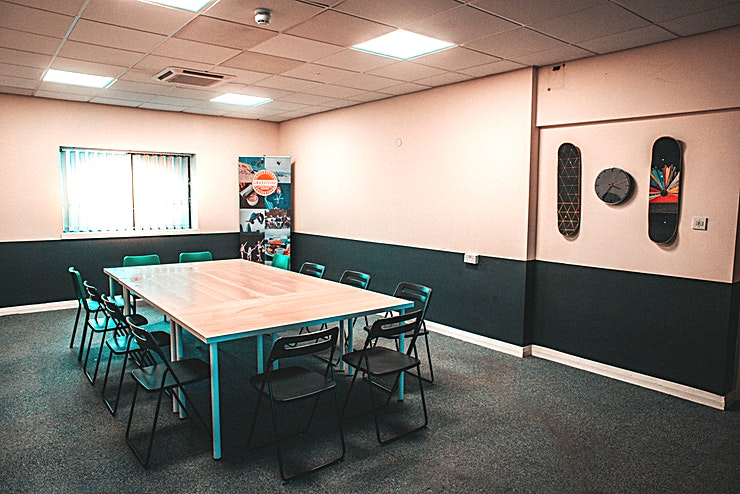 Meeting Room **The Meeting Room at Graystone Action Sports is a unique team away day venue in Salford.**