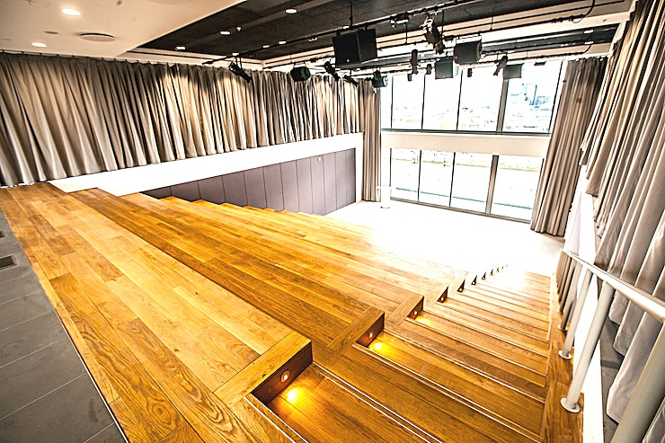 The Amphitheatre **The Amphitheatre at Sea Containers is a stylish creative Space for hire on London's South Bank.**