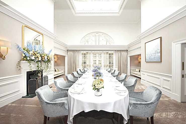 The Tower Suite **The Tower Suite at The Landmark London is a delightful private dining room for hire.**  The Suite accommodates up to 36 Guests for lunch or dinner in a flexible choice of table configurations. Meetings may also be conveniently hosted here.