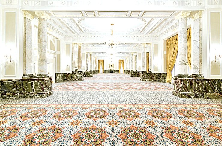 Marble Ballroom **The Marble Ballroom at The Landmark London is a grand event Space for hire in London.**  This beautiful room benefits from having a high ceiling, natural lighting, plenty of floor Space and street