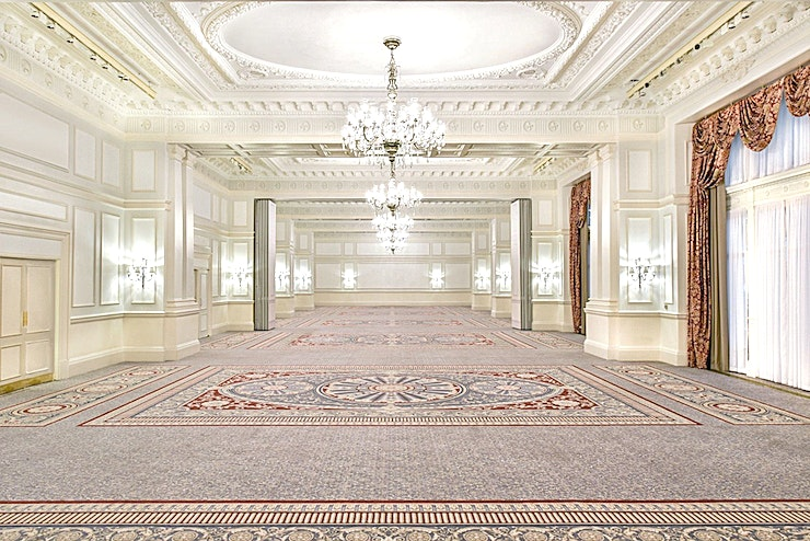 Grand Ballroom **The Grand Ballroom at The Landmark London is a sensational event Space for hire in London.**  The beautiful and elegant Grand Ballroom provides an extensive area catering for up to a maximum of 75