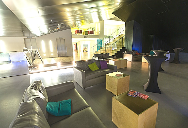 Screen 3 **Screen 3 at Light House Cinema is a modern screening room for hire in Dublin.**  Light House Cinema is the ultimate in flexible, customisable event Spaces.   Situated over 3 floors with 4 screens, a ground floor café and subterranean bar, Light House boasts a great location that's perfect for conferences, press launches, receptions, seminars, and film screenings.   Put your stamp on the space with branding or theming, or keep it simple with our stunning contemporary design.