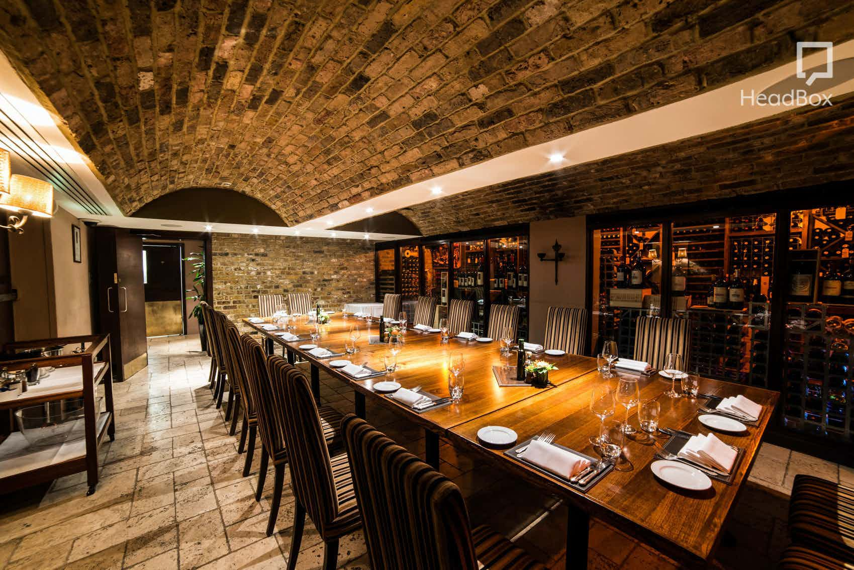 Dinner Hire, Private Dining Room, Zafferano