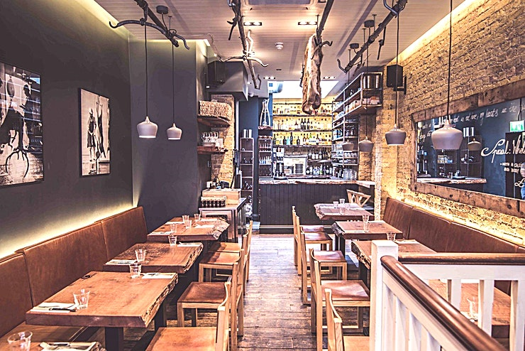 Main Restaurant **The Main restaurant can host up to 100 Guests for a private dinner OR 120 for a standing drinks and canapé party.**   The restaurant is perfectly located just a two-minute walk from Liverpool Stre