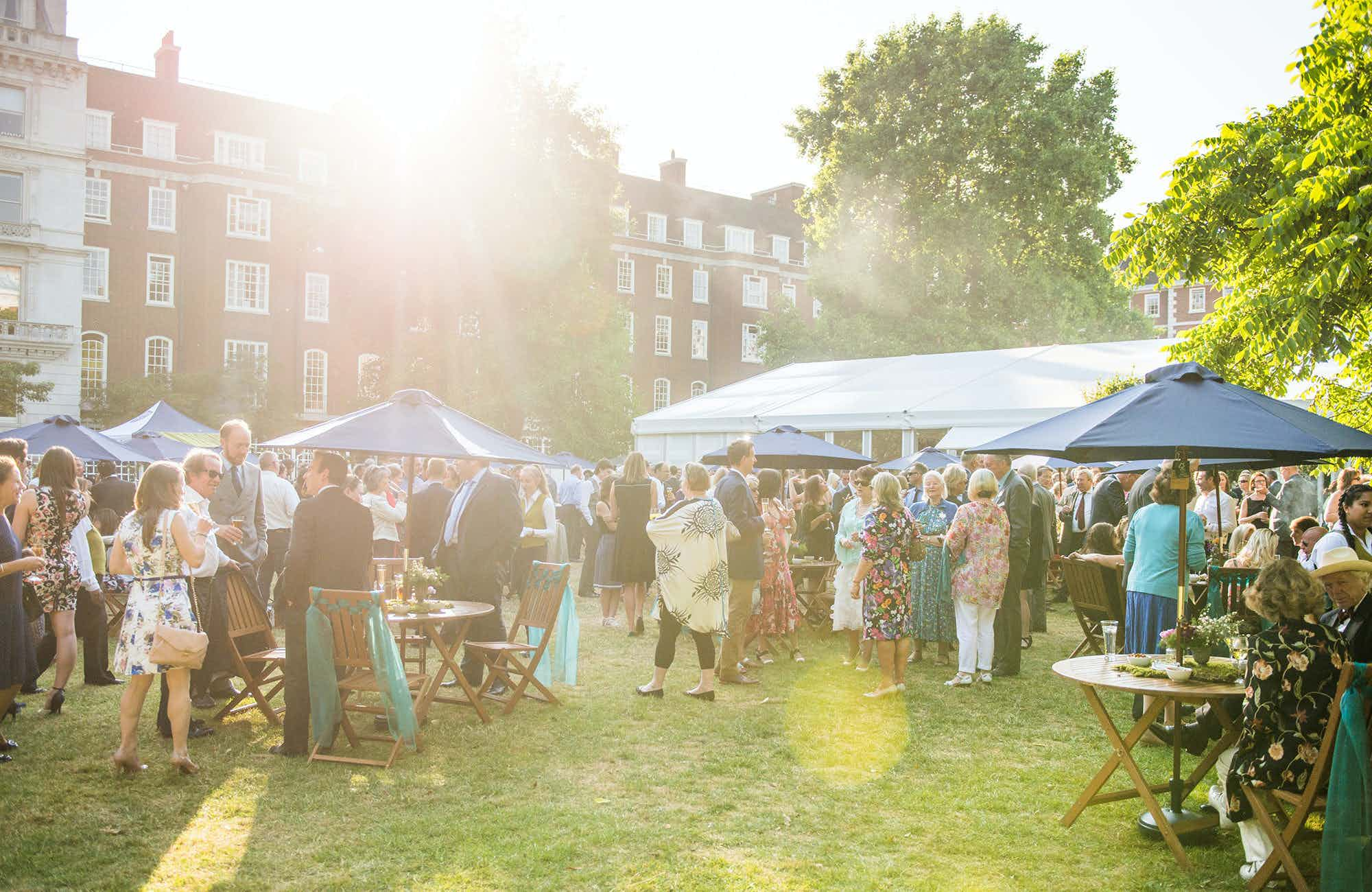 Summer Party Venue, Inner Temple Garden and Marquee
