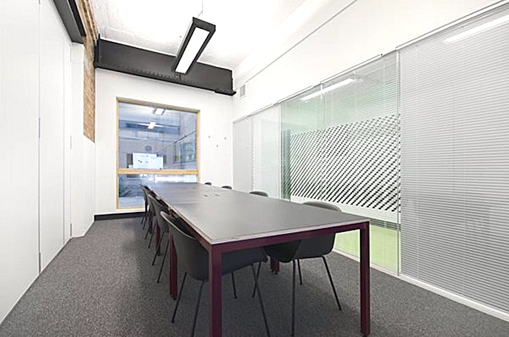 Journey - Chester House **Hire Journey for one of the best meeting rooms in London - courtesy of Workspace at their Kennington Park branch.**   Exposed brickwork and natural light make Journey ideal for meeting with colleagues and customers in a professional thinking space.  The room can seat up to 8 people comfortably and is equipped with high-speed Wi-Fi, LED SCreen/AV and Clickshare, a wireless presentation tool.