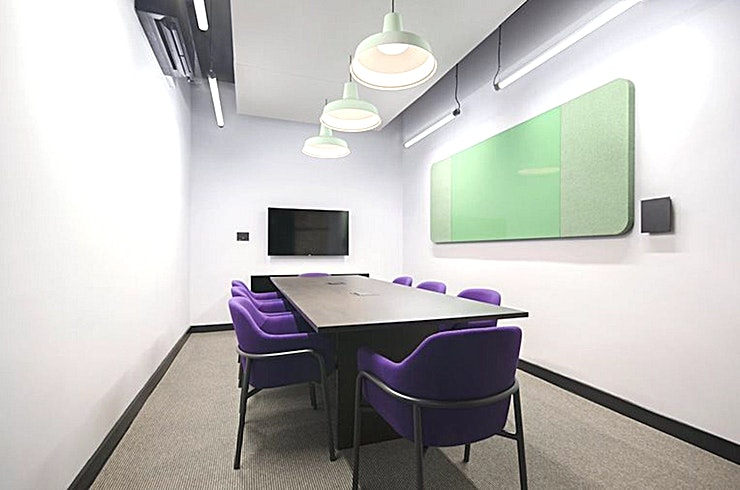 Fruit **Fruit at The Chocolate factory is an 8 person meeting room for hire in Wood Green.**  With brand new, high-spec equipment, natural light and air-conditioning, this eight-person meeting room is perfect for getting the team together in Wood Green.
