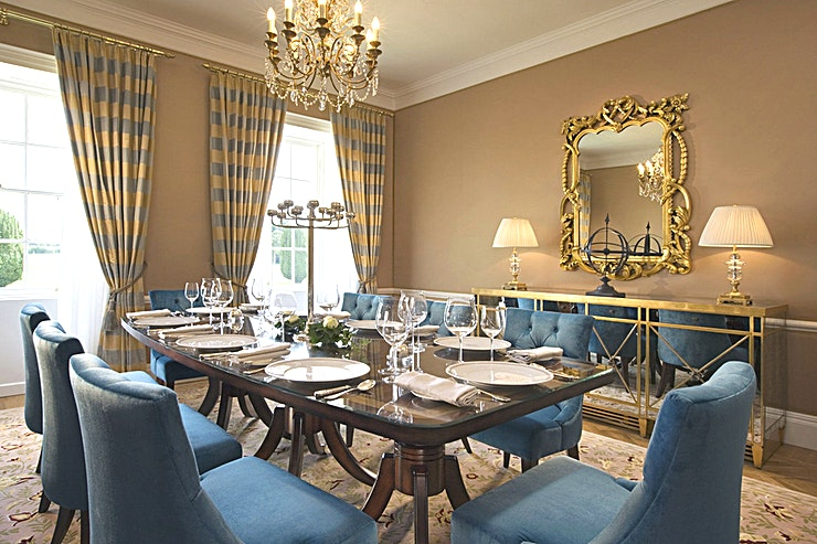 The Presidential Suite Dining Room **For the ultimate experience in corporate meetings and conferencing, step beyond the walls of the boardroom and maximise the potential of your meeting at The Presidential Suite, Castlemartyr Resort.**  With stunning views of the 12th-century castle and ornate gardens, the Presidential Suite is bright and airy with character and charm.  This stylish space is suitable for both business meetings and corporate entertaining, providing delegates with their very own private area and a stimulating environment for brainstorming, creative thinking and negotiation.  The Presidential Suite is also ideal for entertaining corporate clients or Guests, complete with an anteroom generous enough to host a cocktail reception and a dining room serviced by a dedicated elevator creating the ideal space for a private dining event.
